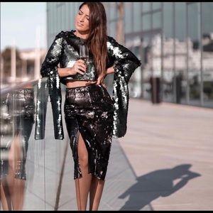 ZARA Festive Season Sequin Skirt